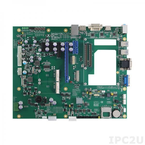 CEB94011 Базовая плата для установки процессорных модулей COM Express Type-6 с HDMI/VGA/DP/DVI-D/LVDS/eDP, 1xGigabit LAN, 4xSATA,2x RSx232, 6xUSB 2.0, 2xPCI Express Mini, Audio, 1x PCIe x16, 1x PCIe x4, 2x PCie x1, слот SD