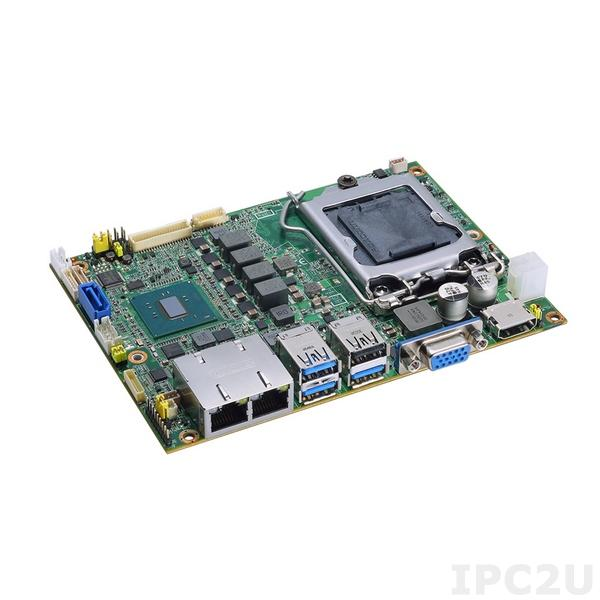 """CAPA500VHGGA-H110-ZIO Процессорная плата формата 3.5"""" с сокетом LGA1151для 6th/7th gen Intel Core i7/i5/i3, чипсет Intel H110, VGA/HDMI/LVDS, 2xGB LAN, 1xCOM, 3xUSB 3.0, 3xUSB 2.0, 1xSATA-600, DIO, MiniPCIe, Audio, ZIO разъем"""